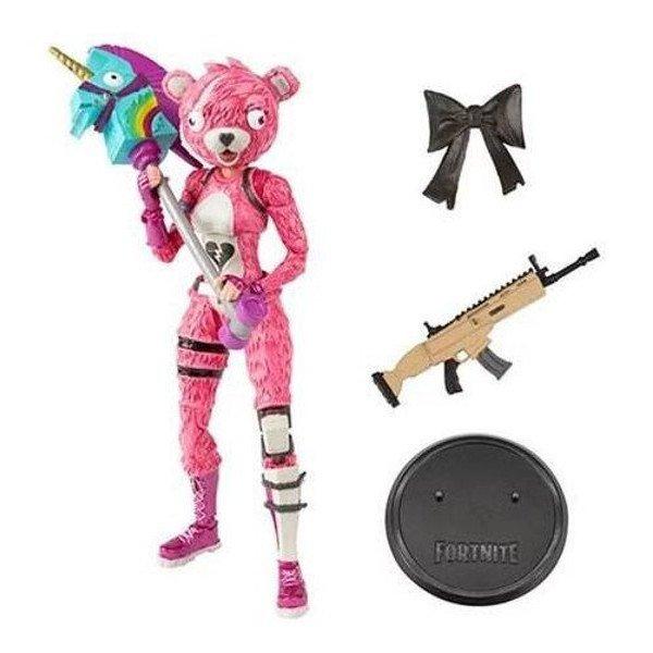 figuritas figura oso rosa fortnite